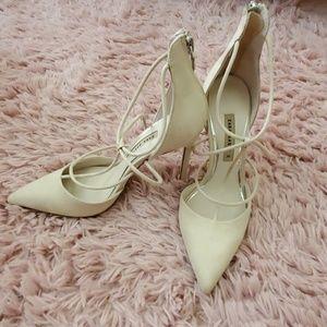 Cream/Beige Strap Heels